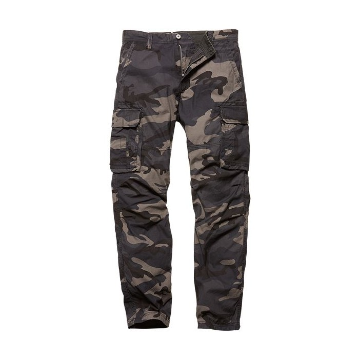 Nohavice Vintage Industries Reef, dark camo