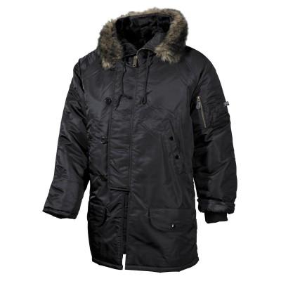Bunda s kapucňou N3B POLAR, čierna