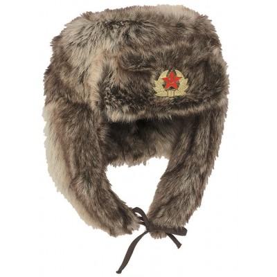Baranica MIL-TEC s ruským odznakom, hnedá