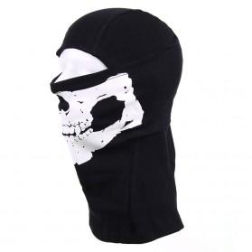 Kukla ninja bavlnená lebka, čierna