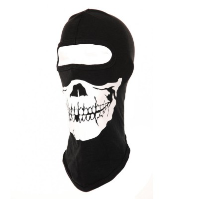 Kukla skull 1 otvor, čierna