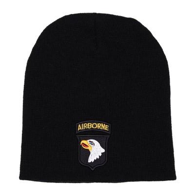 """Čiapka pletená """"BEANIE""""101st Airborne, čierna"""