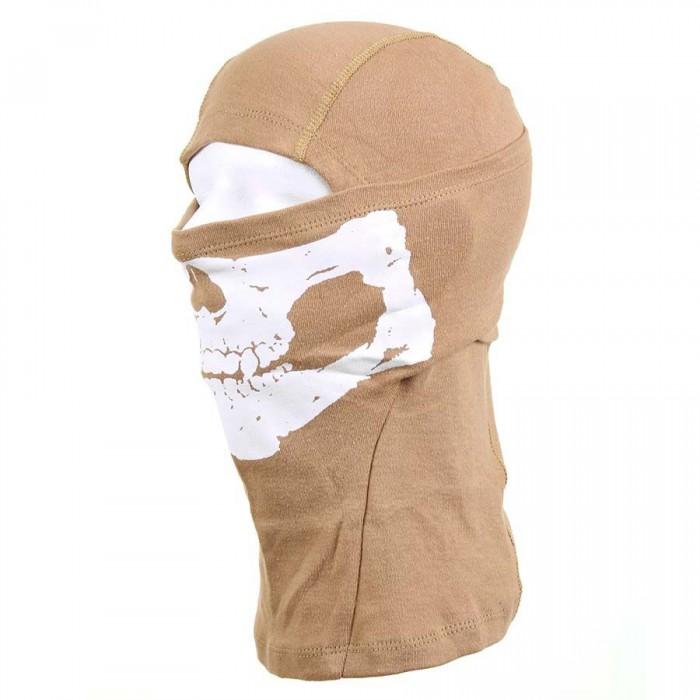 Kukla ninja bavlnená lebka, sand