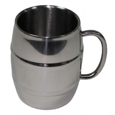 Pivný nerezový hrnček MFH 450ml