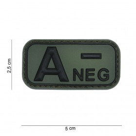Nášivka na suchý zips A- NEGATÍVNY zelená