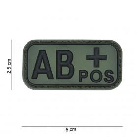 Nášivka na suchý zips AB+ zelená