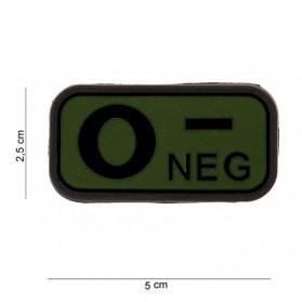 Nášivka na suchý zips O- zelená