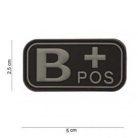 Nášivka na suchý zips B+ čierna