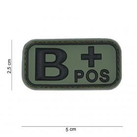 Nášivka na suchý zips B+ zelená