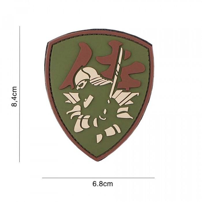 Nášivka PATCH 3D PVC Samurai Shield multi