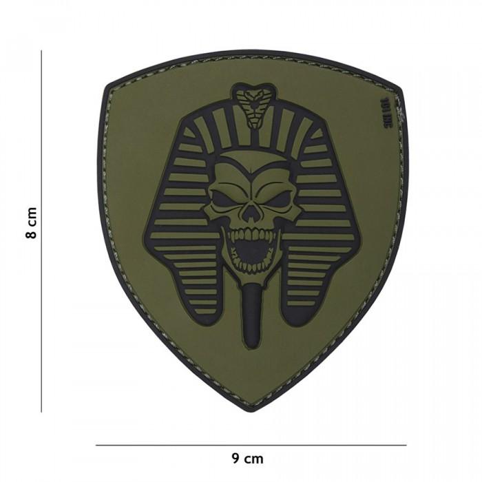 Nášivka PATCH 3D PVC Pharaoh skull green