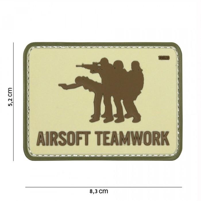 Nášivka PATCH 3D PVC Airsoft Teamwork sand