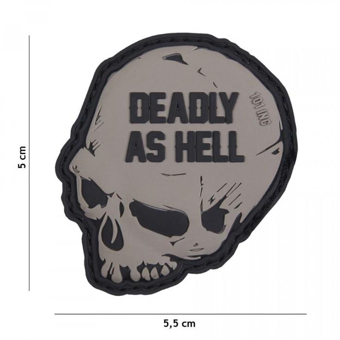 Nášivka PATCH 3D PVC Deadly as hell grey