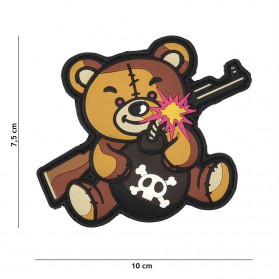 Nášivka PATCH 3D PVC Terror Teddy brown