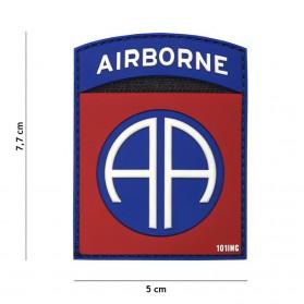 Nášivka PATCH 3D PVC Airborne 82nd red