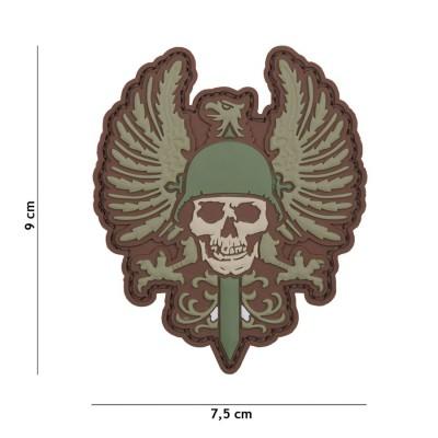Nášivka PATCH 3D PVC Spanish skull multi