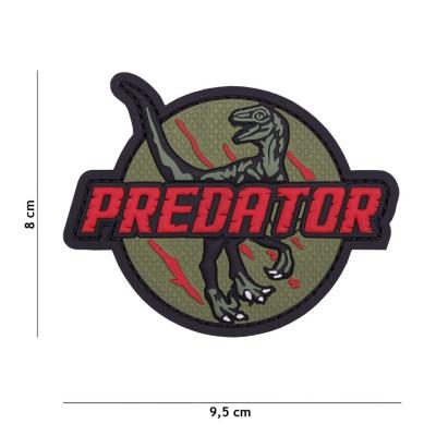 Nášivka PATCH 3D PVC Predator red