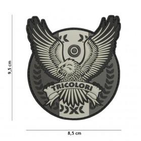Nášivka PATCH 3D PVC Tricolori grey