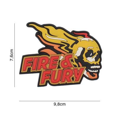 Nášivka PATCH 3D PVC Fire & Fury