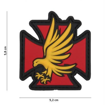 Nášivka PATCH 3D PVC Iron Eagle red