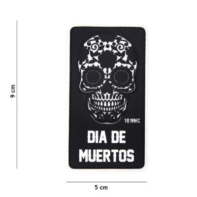 Nášivka PATCH 3D PVC Dia de Muertos black