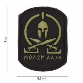 Nášivka PATCH 3D PVC Molon Labe Spartan SWAT