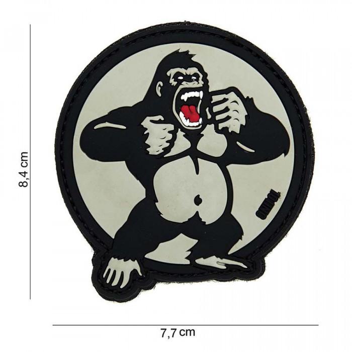 Nášivka PATCH 3D PVC King Kong white