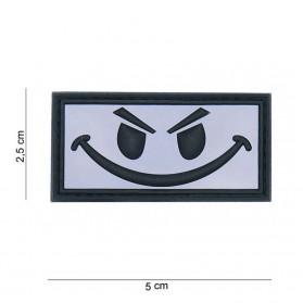 Nášivka PATCH 3D PVC Evil smiley white