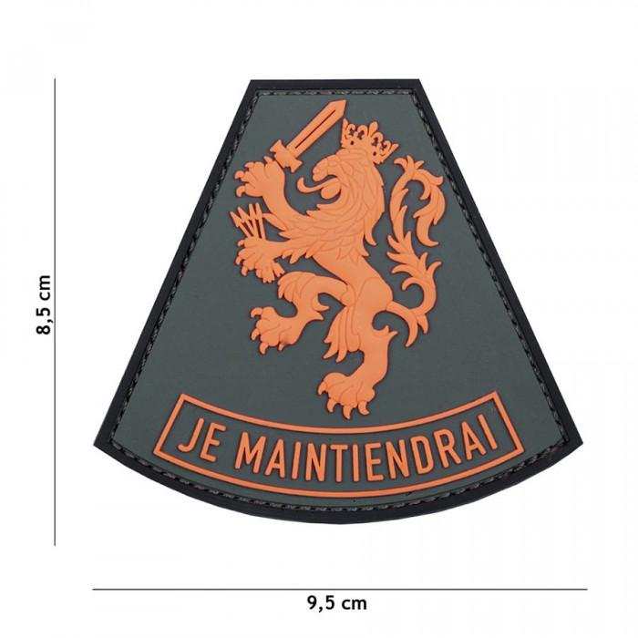 Nášivka PATCH 3D PVC Je Maintiendrai orange