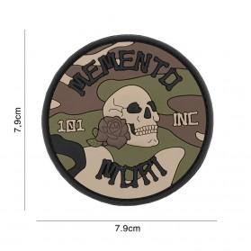 Nášivka PATCH 3D PVC Memento Mori 101 INC (round) woodland