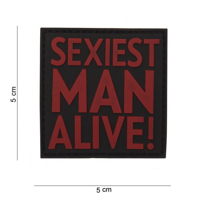 Nášivka PATCH 3D PVC Sexiest man alive red