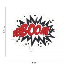 Nášivka PATCH 3D PVC BOOM! red