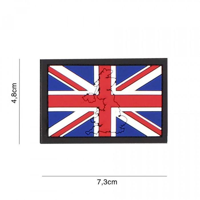 Nášivka PATCH 3D PVC United Kingdom with contour