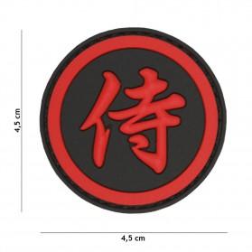 Nášivka PATCH 3D PVC Samurai red