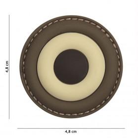 Nášivka PATCH 3D PVC Belgium Air Force brown
