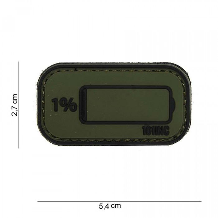 Nášivka PATCH 3D PVC Low power green/black