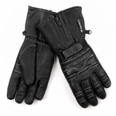 Motoristické rukavice nepremokavé, čierne