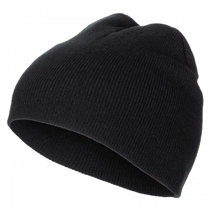"""Čiapka pletená """"BEANIE"""", jemný úplet, krátka, čierna"""
