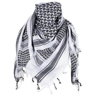 Šatka bavlnená MFH (Arafatka) Black/White