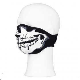 Maska na bicykel skull 101 Inc., čierna