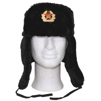 Baranica MFH s ruským odznakom, čierna