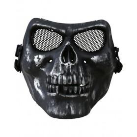 Ochranná KOMBAT maska SKULL polovičná, čierna