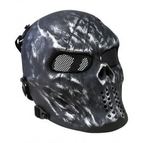 Ochranná KOMBAT maska SKULL, čierna