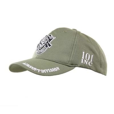 """Šiltovka """"Baseball"""" detská 101 skull logo, olive"""
