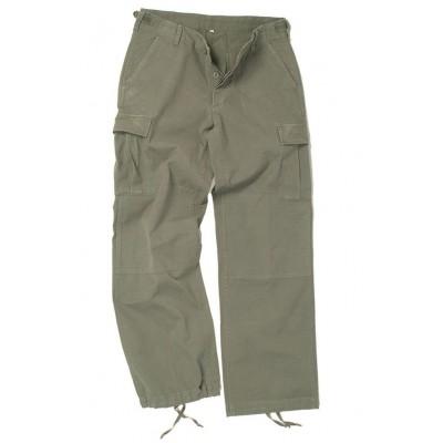Nohavice dámske US BDU rip-stop predprané, olive