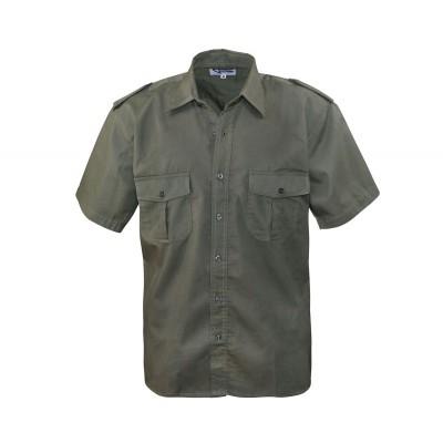 Commando košela pilotná, krátky rukáv, olive