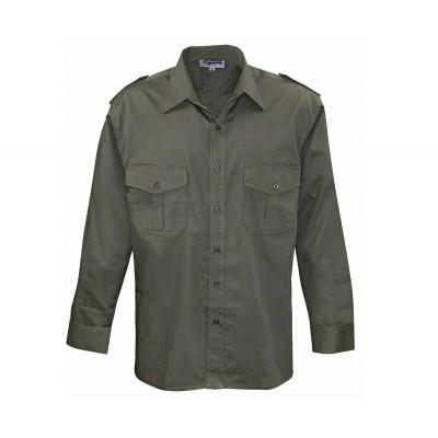Commando košela pilotná, dlhý rukáv, olive