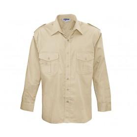 Commando košela pilotná, dlhý rukáv, beige