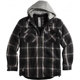 Bunda Lumberjack Jacket, zateplená, čierna