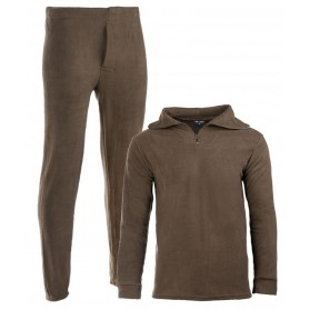 Thermo komplet MIL-TEC Fleece s golierom, olive